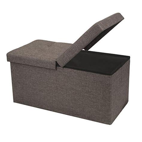 Folding Storage Ottoman by Brown Folding Storage Ottoman Linen Bench Foot Stool Box