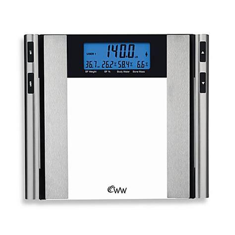 weight watchers  conair glass satin nickel body