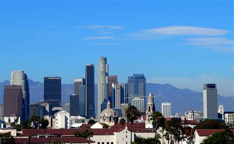 icons   los angeles downtown skyline