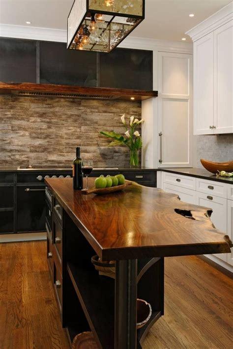 ilot cuisine bois massif idée relooking cuisine meubles bois massif brut