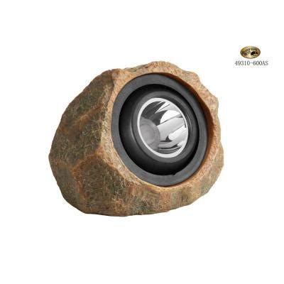 hton bay outdoor rock led solar spot light 49310 600as