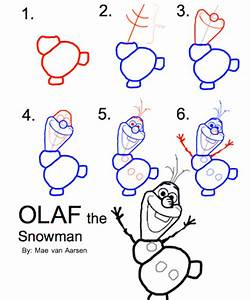 How To Draw Olaf The Snowman, FROZEN, Disney Drawing ...