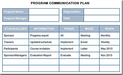 communication plan creating a program communication plan