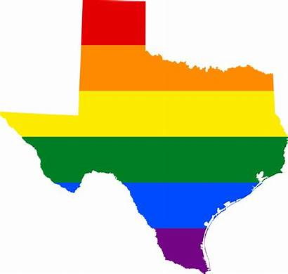 Texas Svg Flag Map Lgbt Gay State