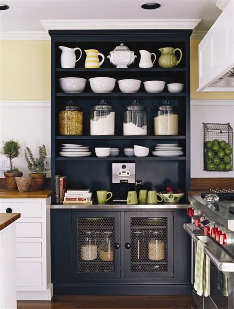 kitchen shelf organizer ideas kitchenkitchens design open shelves built in black