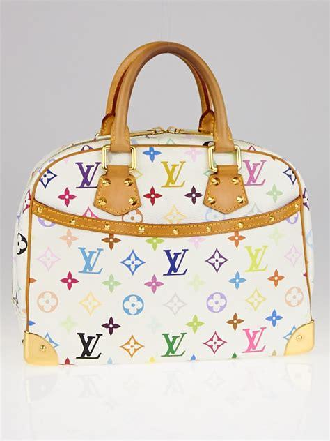 louis vuitton white monogram multicolor trouville bag yoogis closet
