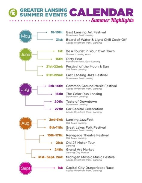community events calendar template greater lansing summer events calendar from tumblr love