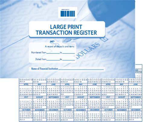 premier large print register  harland clarke