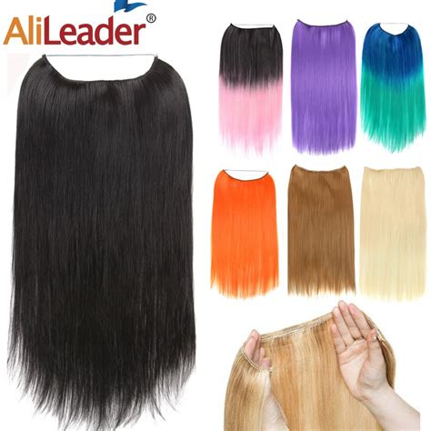 Alileader False Hair Synthetic Fish Line Hair Extensions