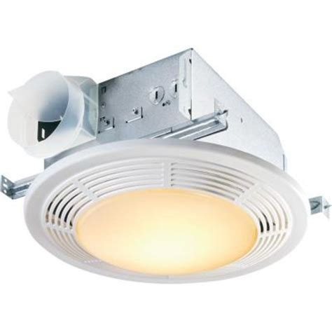 bathroom exhaust fan with light home depot nutone decorative white 100 cfm ceiling exhaust bath fan