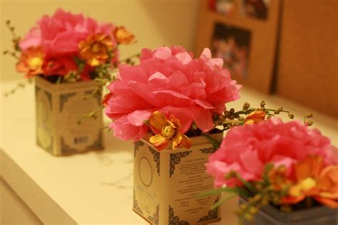 Tissue paper flower centerpiece ideas mightylinksfo