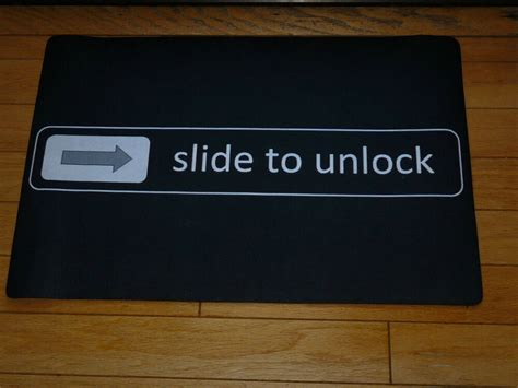 Slide To Unlock Doormat by Slide To Unlock Black Front Door Mat Small Large