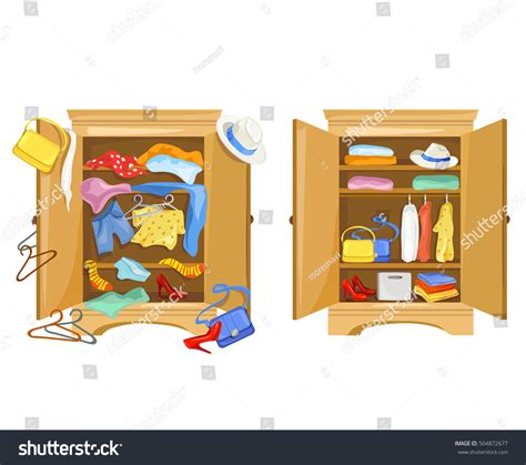 wardrobes clothes tidy clutter closet vector stock vector