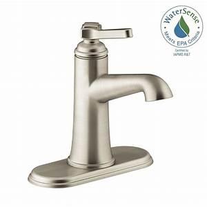 Kohler georgeson single hole single handle water saving for Water saving bathroom faucets