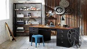 Home Office Industrial Design Desk Metal Of With Decor