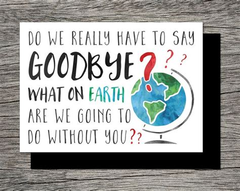 printable farewellgoodbye card   earth