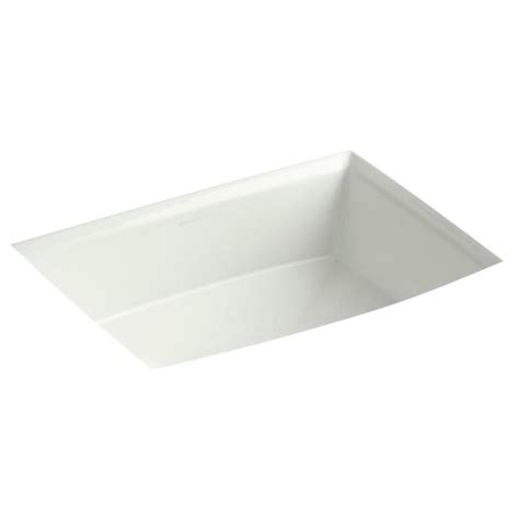 kohler archer undermount sink shop kohler archer dune undermount rectangular bathroom