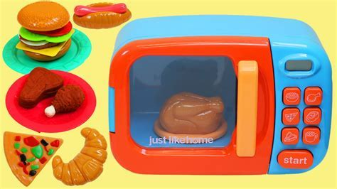 Just Like Home Toy Microwave Oven Play Kitchen Set!   YouTube