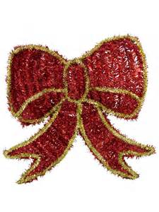 metallic tinsel large bow hanging decoration 40cm garlands wreaths tinsel the christmas
