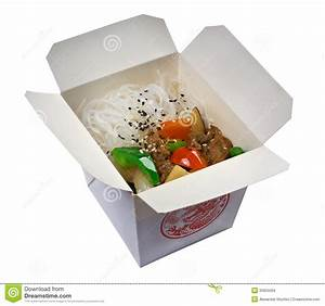 Chinese Rice Noodles, Meat And Oyster Sauce Stock Image ...