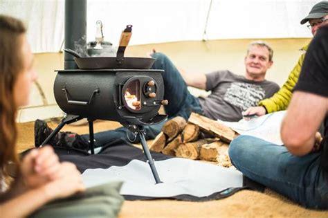 portable woodburning stove heats  tents yurts tiny