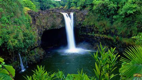 hawaii island rainbow hd falls wallpapers desktop waterfall hilo waterfalls pacaya samiria hawaiian paisajes nature wiki computer north kauai travel