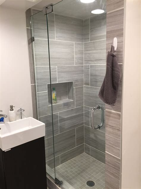 Small Showers For Small Bathrooms by Small Bathroom Frameless Shower Door Installation Wayne Nj