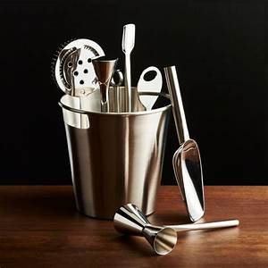 Bar Tool Set Silver Reviews Crate And Barrel