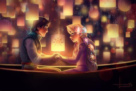 Artist Captures Disney's Most Romantic Scenes