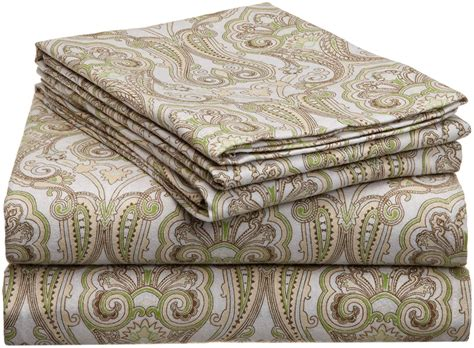 paisley sheets pointehaven heavy weight printed flannel sheet set twin paisley new free sh ebay