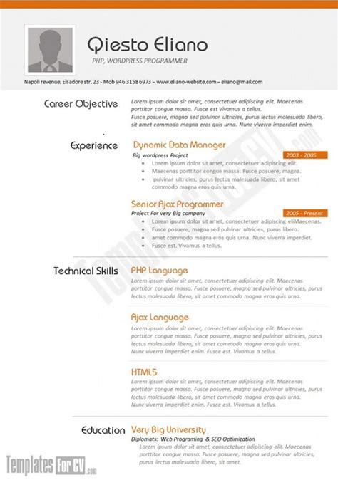 21208 resume exles for it professionals 25 creative cv templates that will make you stand out