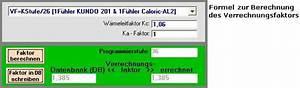Steuerklasse 4 Faktor Berechnen : pc software heizk rperbewertung ~ Themetempest.com Abrechnung
