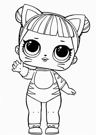 Lol Surprise Coloring Dolls Pages Doll Tiger
