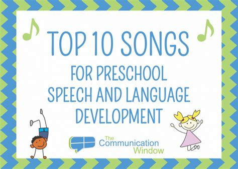 top 10 songs for preschool speech and language development 477 | Top 10 Songs Graphic 30zsi83kubjth0nrprpjwq