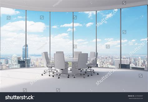 with a city view conference room modern office windows city stock photo Office
