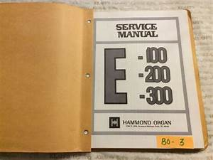 Hammond Organ Technical Service Manual E