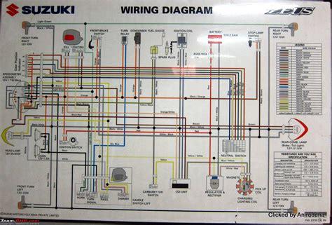 Suzuki Rv 125 Wiring Diagram by Wiring Diagrams Of Indian Two Wheelers Team Bhp