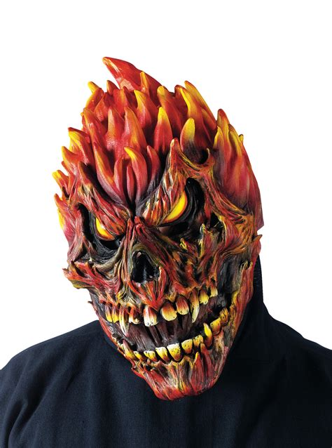 fearsome faces fire skull mask