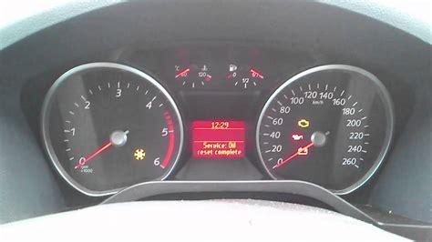 kasowanie inspekcji ford  max oil service indicator light