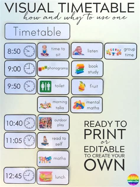 visual timetable effectively adhd
