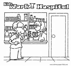 Free coloring pages of hospital