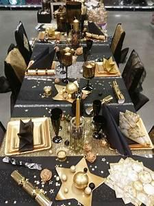 Table De Fete Decoration Noel : table de f te noir et or autour de la table beautiful ~ Zukunftsfamilie.com Idées de Décoration