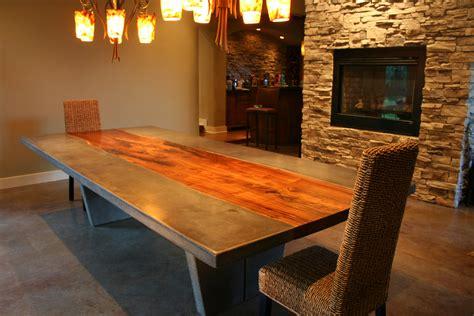 walnut concrete dining table strack studio furniture llc