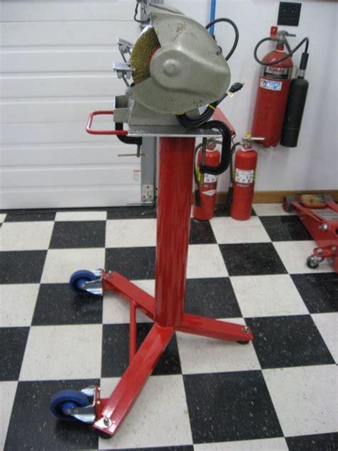 bench grinder stand  garage journal board
