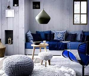 Salon Gris Bleu : d co salon bleu de belles id es pour s 39 inspirer d co ~ Melissatoandfro.com Idées de Décoration