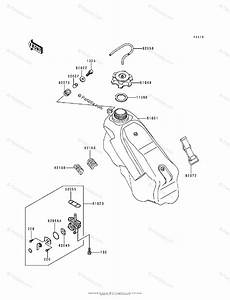 Kawasaki Motorcycle 1995 Oem Parts Diagram For Fuel Tank