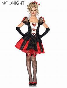 MOONIGHT 3 Pcs Halloween Costumes Adult Womens Poker Red