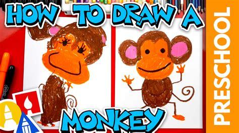 draw  monkey preschool art  kids hub