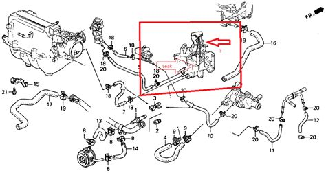 Honda Engine Cooling Diagram by 2002 Honda Civic Cooling System Diagram Six