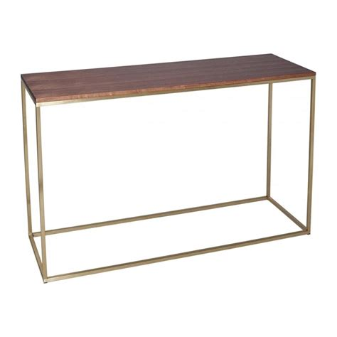 all modern console table buy this contemporary gilmore space walnut and gold